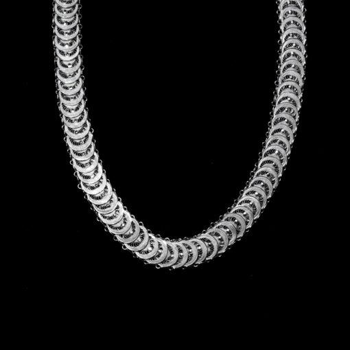 """Handmade Necklace """"Infinity"""" Filigree Silver Jewelry from Cyprus"""