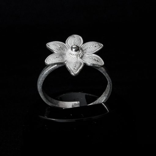 "Handmade Ring ""Margarita"" Filigree Silver Jewelry from Cyprus"