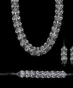 "Handmade Set ""Indie"" Filigree Silver Jewelry from Cyprus"