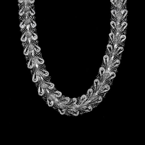 """Handmade Necklace """"Indie"""" Filigree Silver Jewelry from Cyprus"""