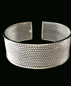 "Handmade Bangle ""Moon"" Filigree Silver Jewelry from Cyprus"
