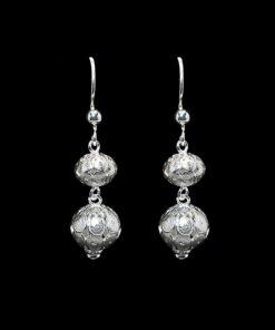"""Handmade Earrings """"Spheres"""" Filigree Silver Jewelry from Cyprus"""