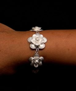 "Handmade Bracelet ""Regen"" Filigree Silver Jewelry from Cyprus"