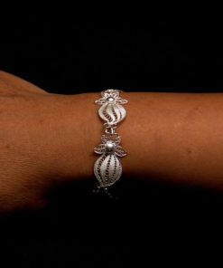 "Handmade Bracelet ""Falling Star"" Filigree Silver Jewelry from Cyprus"