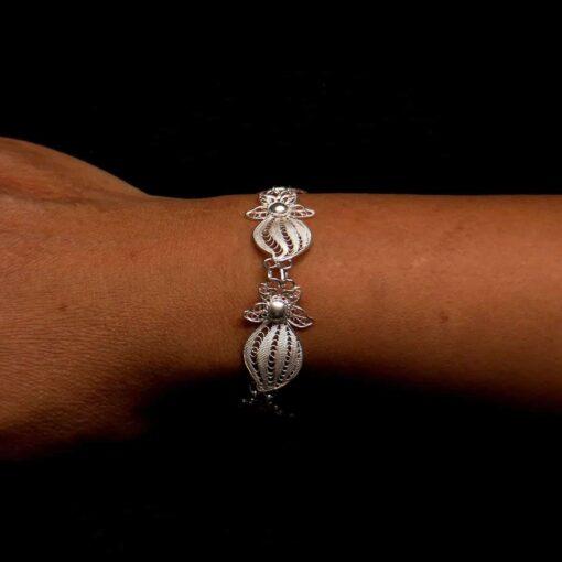 "Handmade Bracelet ""Falling Star"" Filigree Silver Jewelry from Cyprus"