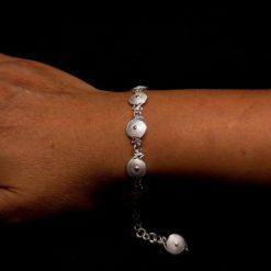 "Handmade Bracelet ""Sunrise"" Filigree Silver Jewelry from Cyprus"