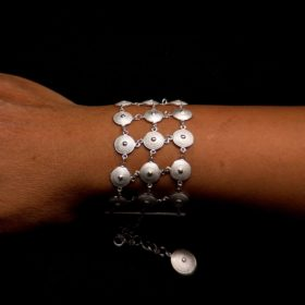 "Handmade Bracelet ""Sun"" Filigree Silver Jewelry from Cyprus"