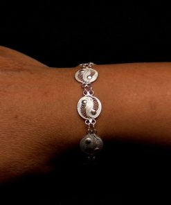 "Handmade Bracelet ""Yin Yang"" Filigree Silver Jewelry from Cyprus"