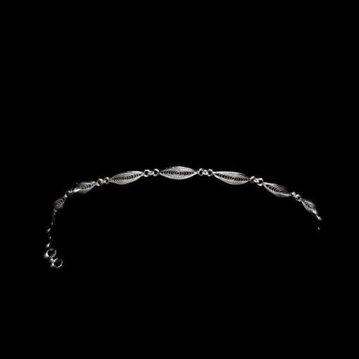 """Handmade Bracelet """"Gaze"""" Filigree Silver Jewelry from Cyprus"""