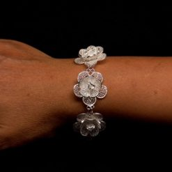 "Handmade Bracelet ""Blossom"" Filigree Silver Jewelry from Cyprus"