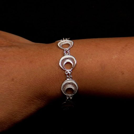 "Handmade Bracelet ""Analogy"" Filigree Silver Jewelry from Cyprus"