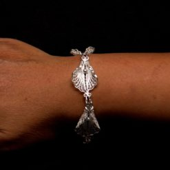 "Handmade Bracelet ""Virgin Lotus"" Filigree Silver Jewelry from Cyprus"