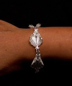 "Handmade Bracelet ""Virgin Lotus"" Filigree Silver Jewelry from Cyprus"