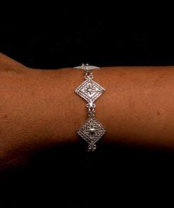 "Handmade Bracelet ""Balance"" Filigree Silver Jewelry from Cyprus"