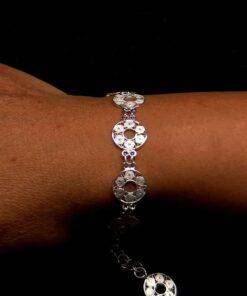 "Handmade Bracelet ""Accretion"" Filigree Silver Jewelry from Cyprus"