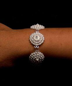 """Handmade Bracelet """"Dahlia"""" Filigree Silver Jewelry from Cyprus"""