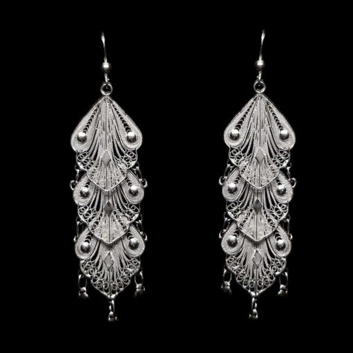 "Handmade Earrings ""Indie"" Filigree Silver Jewelry from Cyprus"