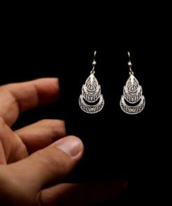 "Handmade Earrings ""Evolution"" Filigree Silver Jewelry from Cyprus"