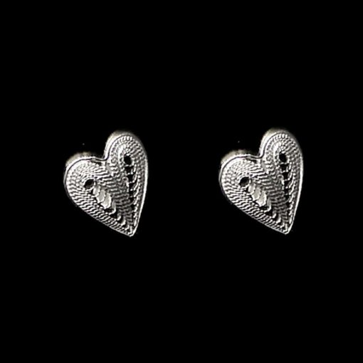 "Handmade Earrings ""Affection"" Filigree Silver Jewelry from Cyprus"