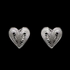 """Handmade Earrings """"Affection"""" Filigree Silver Jewelry from Cyprus"""