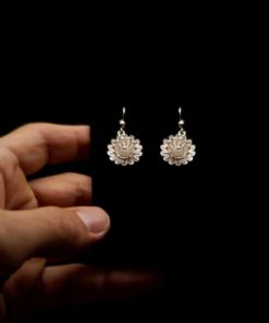 "Handmade Earrings ""Hellebore"" Filigree Silver Jewelry from Cyprus"