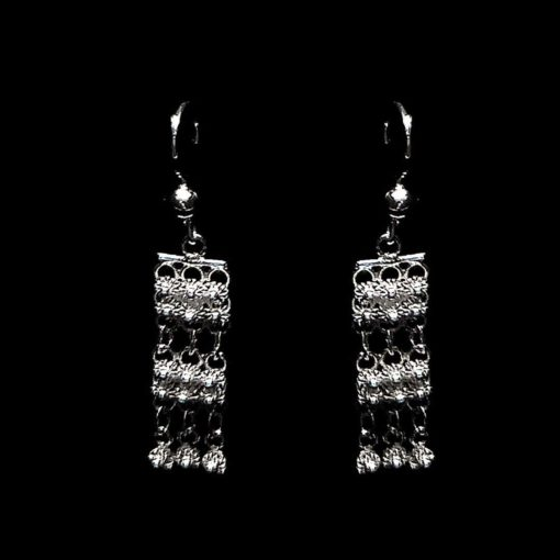 "Handmade Earrings ""Unity"" Filigree Silver Jewelry from Cyprus"