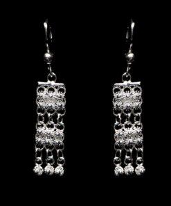 """Handmade Earrings """"Poppy"""" Filigree Silver Jewelry from Cyprus"""