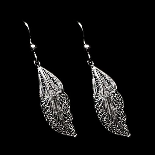 "Handmade Earrings ""Angel"" Filigree Silver Jewelry from Cyprus"