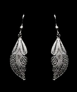 "Handmade Earrings ""Angel"" Filigree Silver Jewelry from Cyprus"