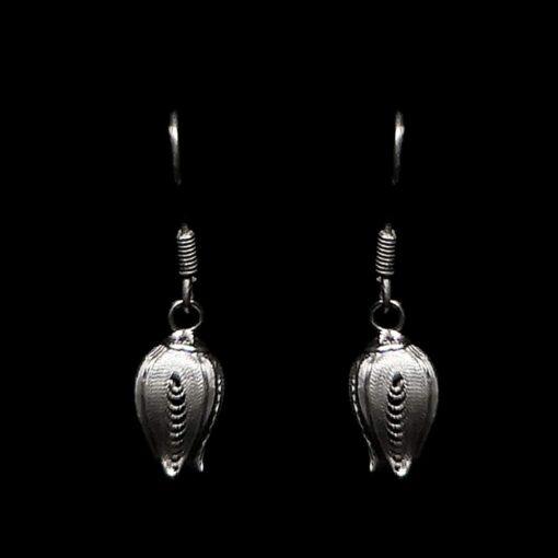 """Handmade Earrings """"Fancy Pome"""" Filigree Silver Jewelry from Cyprus"""