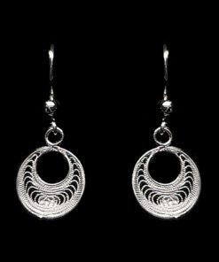 "Handmade Earrings ""Analogy"" Filigree Silver Jewelry from Cyprus"