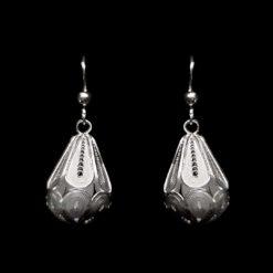 "Handmade Earrings ""Dimension"" Filigree Silver Jewelry from Cyprus"