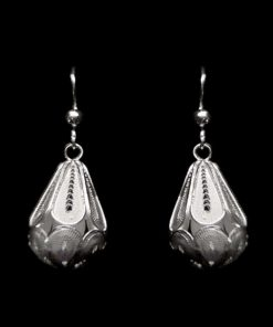 "Handmade Earrings ""Dimension"" Filigree Silver Jewelry from Cyprus"