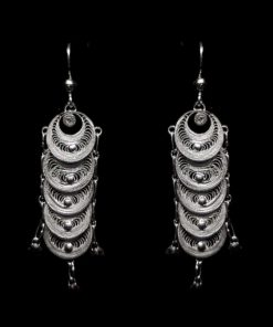 "Handmade Earrings ""Infinity"" Filigree Silver Jewelry from Cyprus"