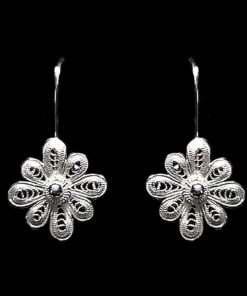 "Handmade Earrings ""Vega"" Filigree Silver Jewelry from Cyprus"
