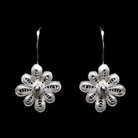 "Handmade Earrings ""Vega"" Filigree Silver Jewelry from Cyprus"