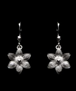 "Handmade Earrings ""Margarita"" Filigree Silver Jewelry from Cyprus"
