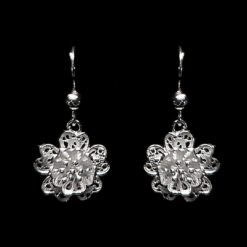 "Handmade Earrings ""Babylon"" Filigree Silver Jewelry from Cyprus"
