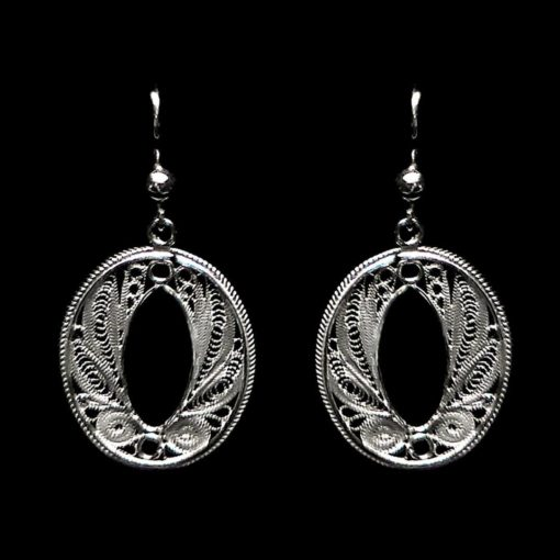 "Handmade Earrings ""Endless"" Filigree Silver Jewelry from Cyprus"
