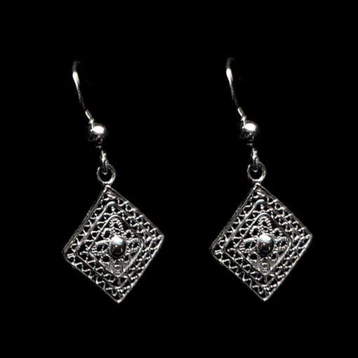 "Handmade Earrings ""Balance"" Filigree Silver Jewelry from Cyprus"