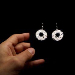 "Handmade Earrings ""Accretion"" Filigree Silver Jewelry from Cyprus"