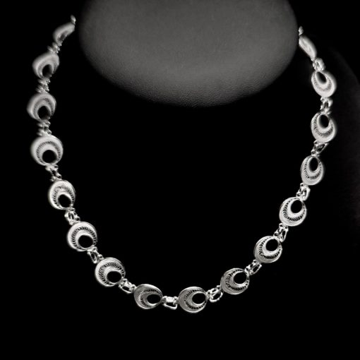 """Handmade Necklace """"Analogy"""" Filigree Silver Jewelry from Cyprus"""