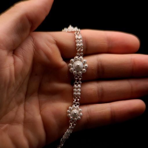 "Handmade Necklace ""Poppy"" Filigree Silver Jewelry from Cyprus"