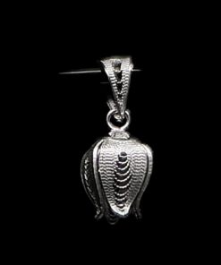 "Handmade Pendant ""Shiny Pome"" Filigree Silver Jewelry from Cyprus"
