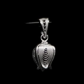 "Handmade Pendant ""Shiny Pome"" Filigree Silver Jewelry from Cyprus"