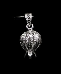"""Handmade Pendant """"Rich Pome"""" Filigree Silver Jewelry from Cyprus"""
