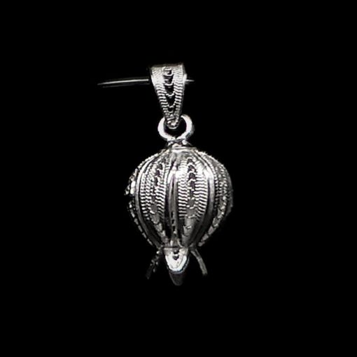 "Handmade Pendant ""Rich Pome"" Filigree Silver Jewelry from Cyprus"