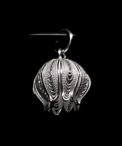 "Handmade Pendant ""Pomegranate"" Filigree Silver Jewelry from Cyprus"