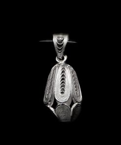 "Handmade Pendant ""Dimension"" Filigree Silver Jewelry from Cyprus"