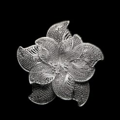 "Handmade Pendant ""Vortex"" Filigree Silver Jewelry from Cyprus"